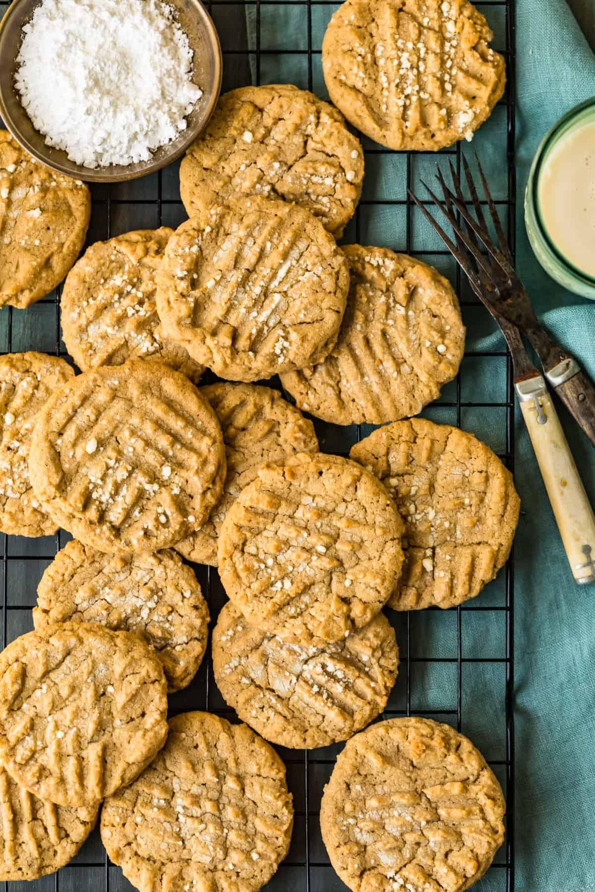 Top shot of cookies