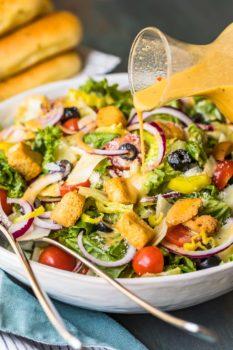 Olive Garden Salad With Copycat Dressing Video