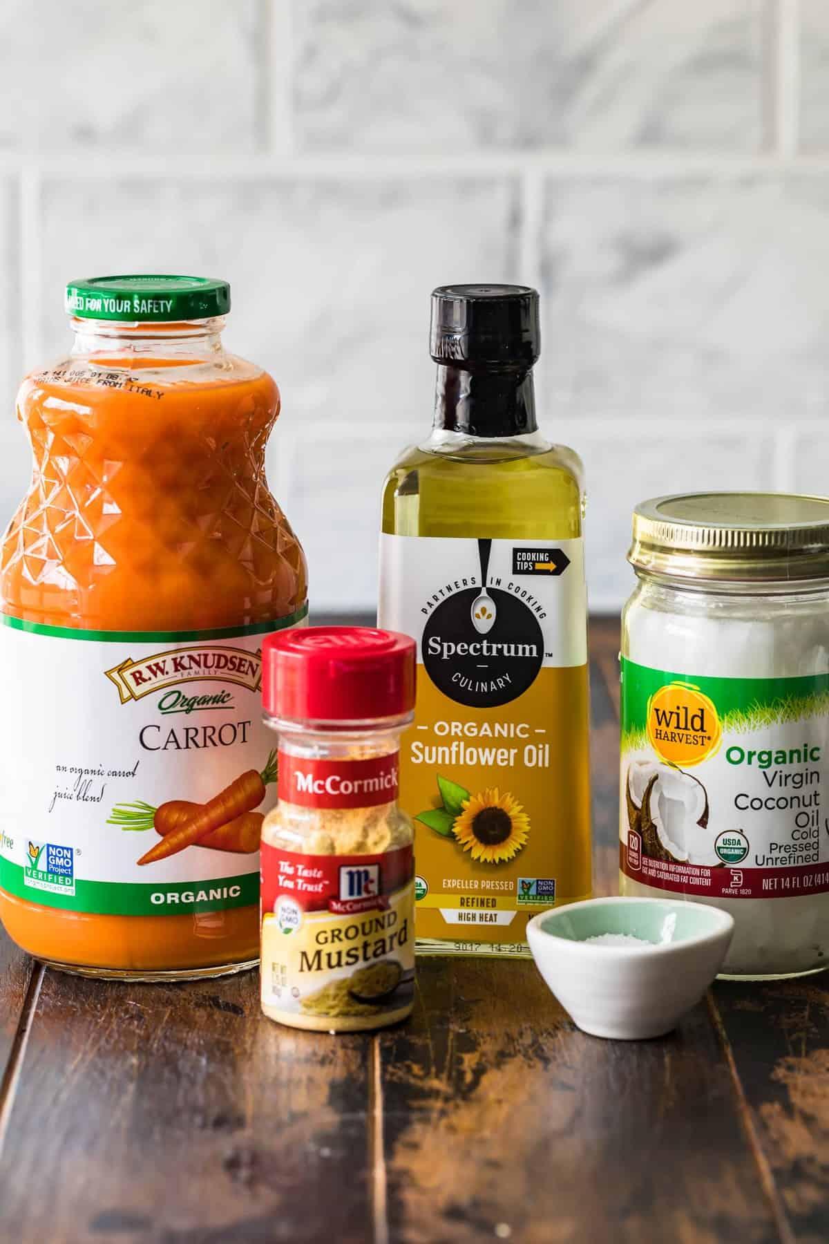ingredients for making vegan butter
