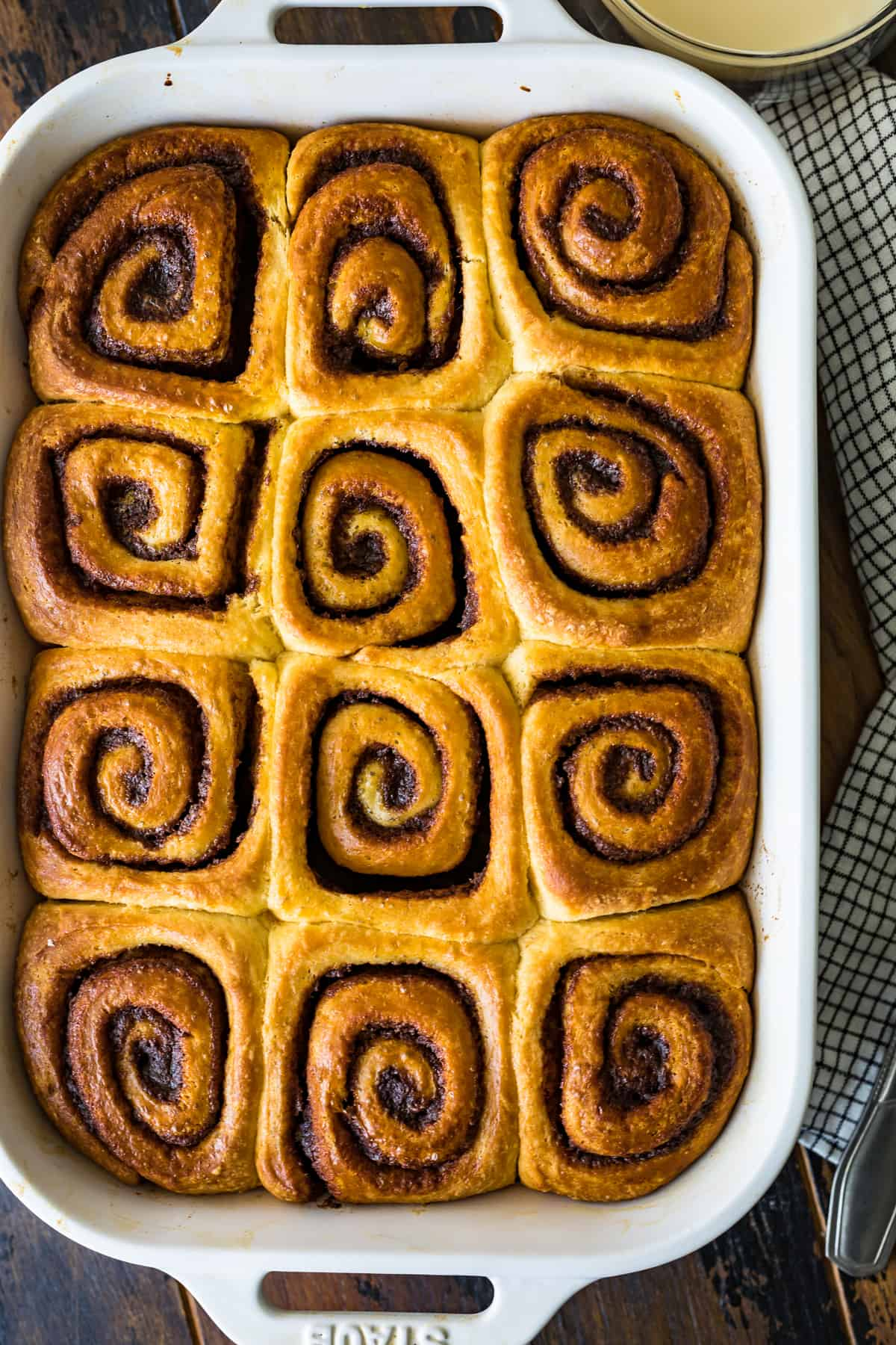 Homemade Cinnamon Rolls before being iced