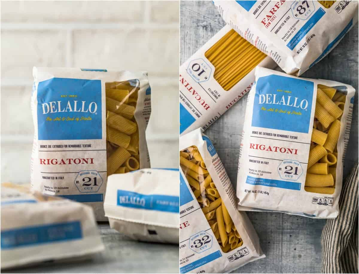 photos of delallo pasta in bags