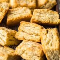 buttermilk biscuits in a basket