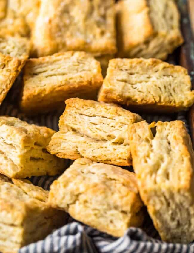 buttermilk biscuits in a basket