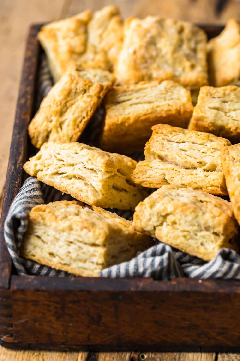 Easy Buttermilk Biscuits on a tray ready to serve