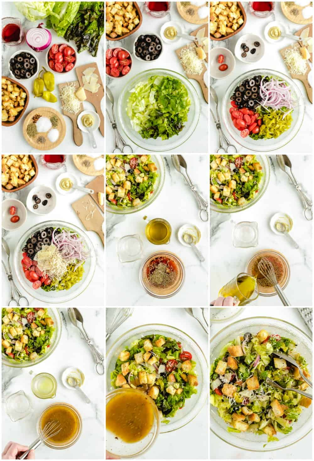 step by step photos of how to make olive garden salad