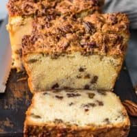 sliced pecan pie pound cake