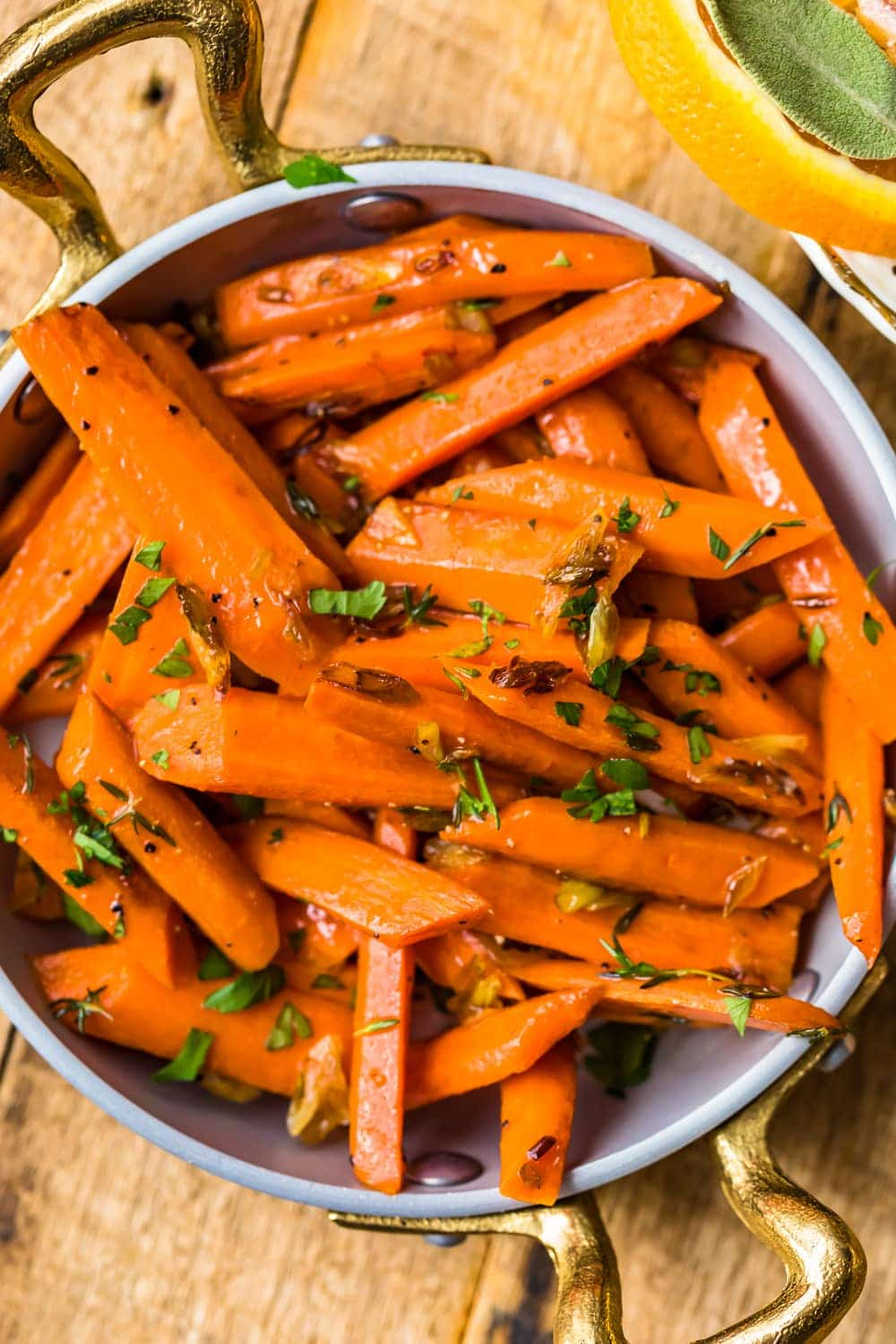 Sauteed Carrots in a serving bowl