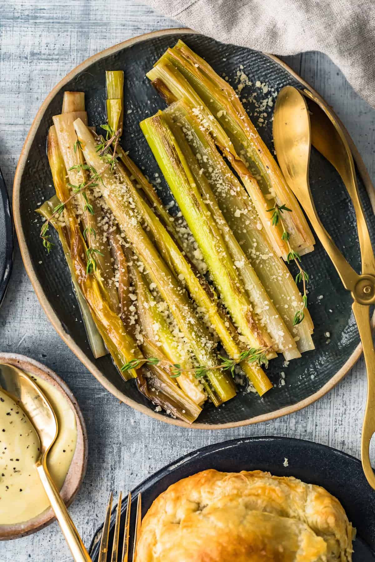 Sauteed Leeks with Parmesan ready to east