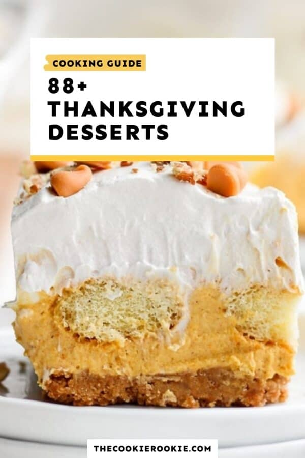 thanksgiving desserts guide