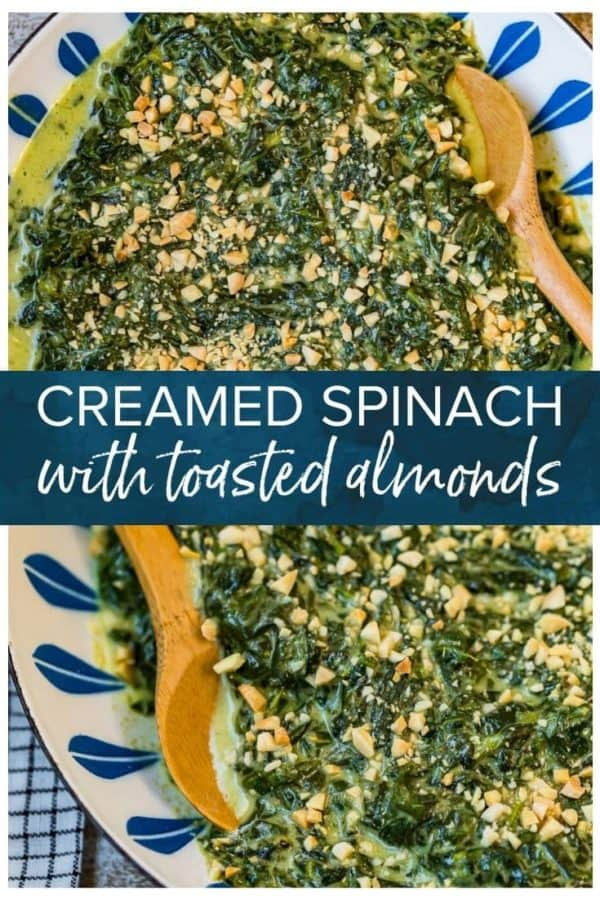 creamed spinach pinterest image