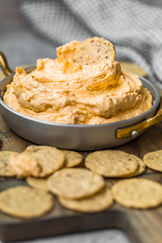 A cracker in the dip