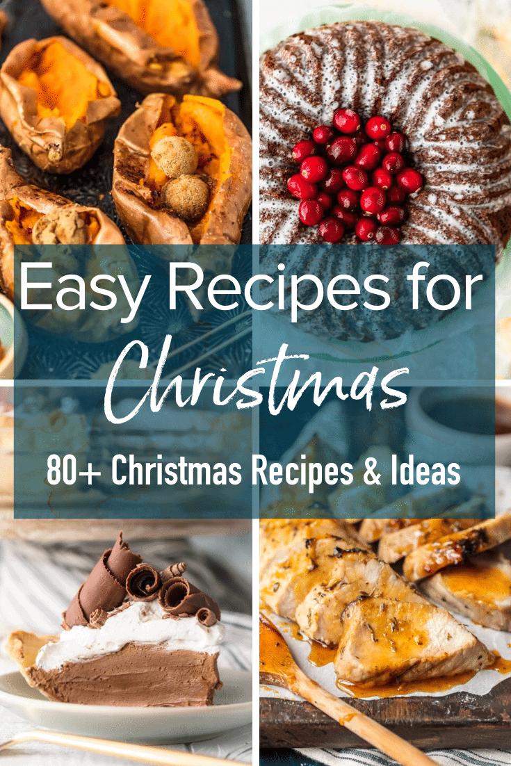 text: easy recipes for christmas