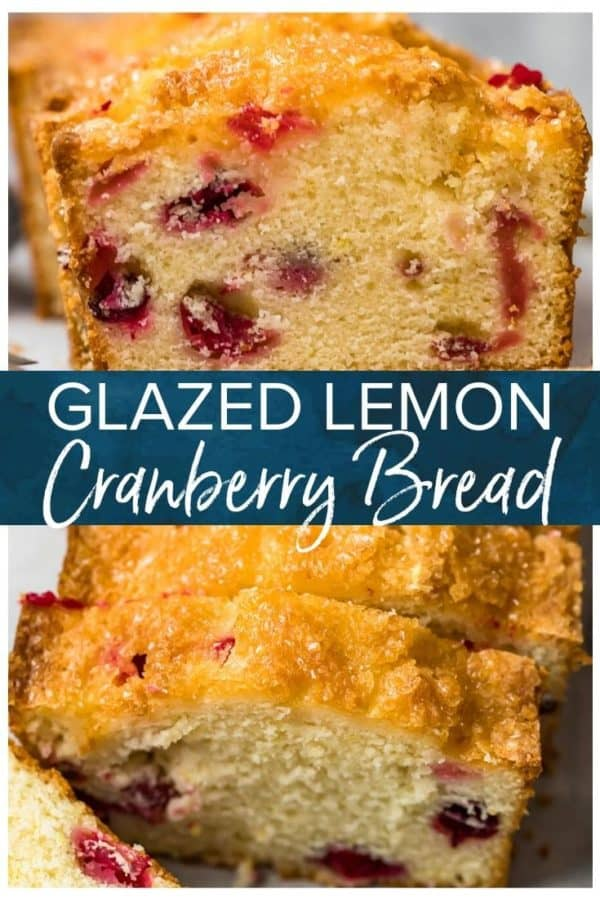 glazed lemon cranberry bread pinterest pic