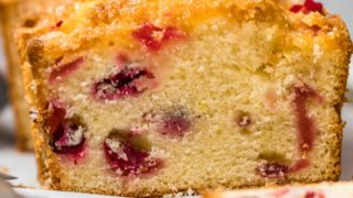 Glazed Lemon Cranberry Bread