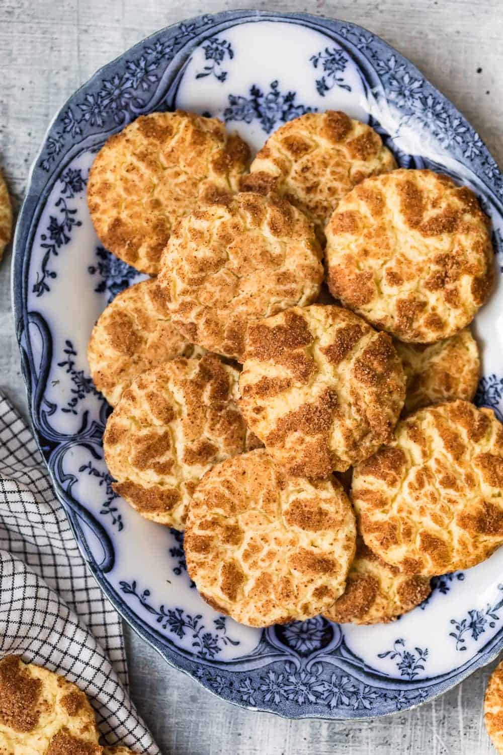 Snickerdoodles on a serving plate