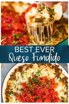 Best Ever Queso Fundido- Pinterest collage