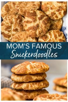 Mom's Famous Snickerdoodles- Pinterest collage