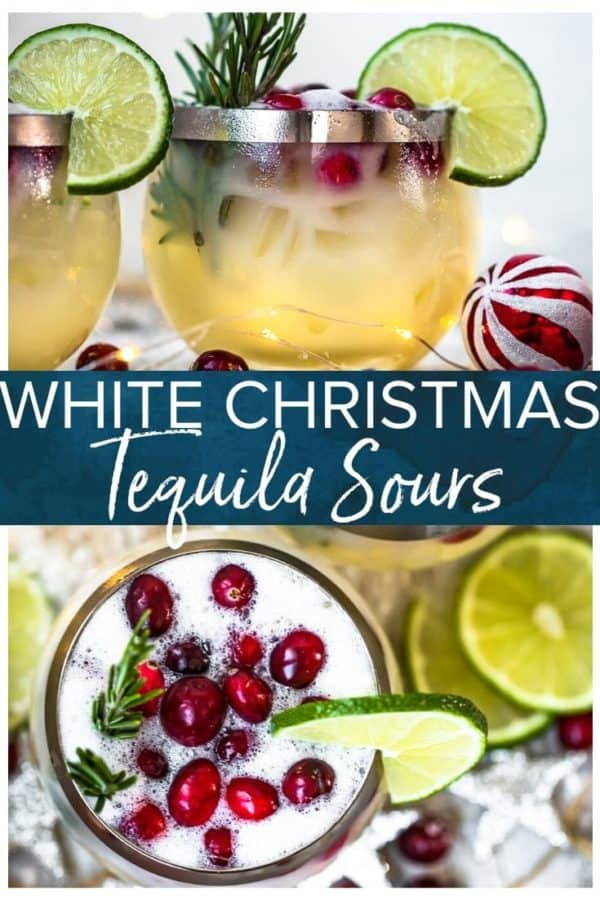 white christmas tequila sour pinterest collage