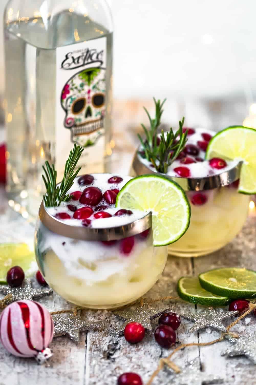 christmas festive drink in glasses