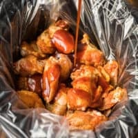 honey bbq chicken wings featured image