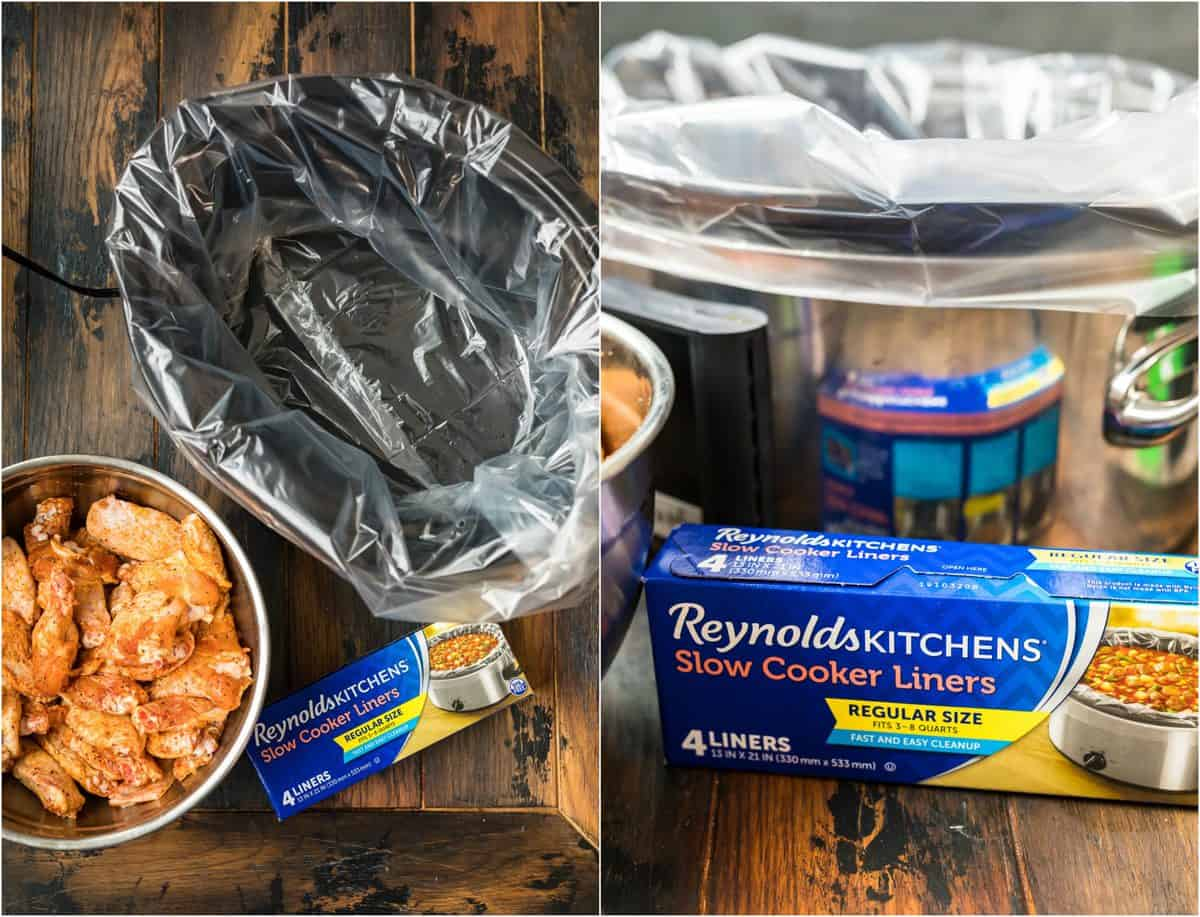 reynolds slow cooker liners in a crockpot