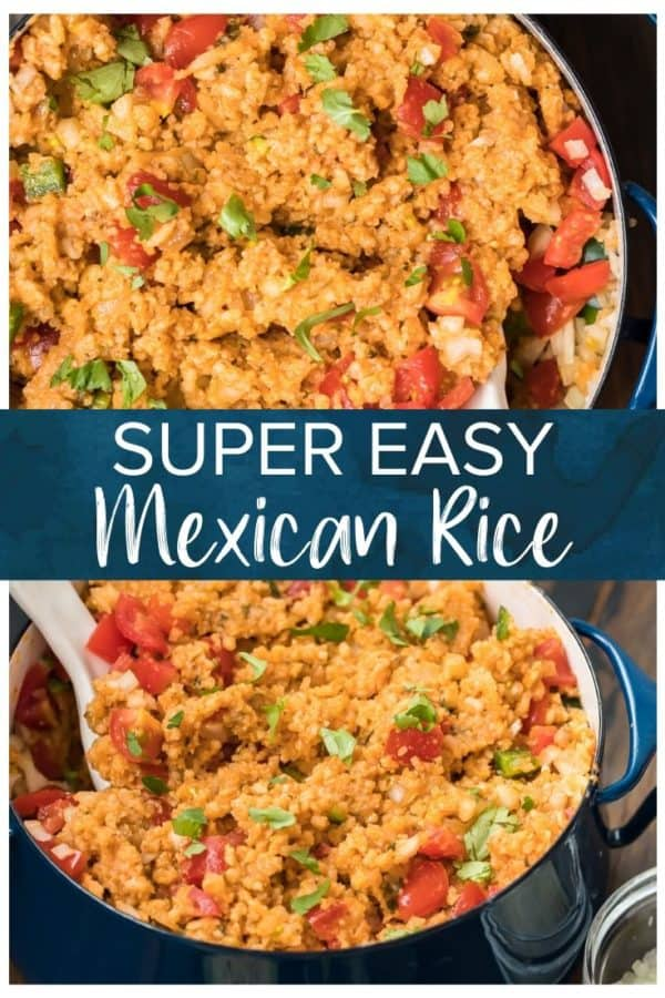 easy mexican rice pinterest pic