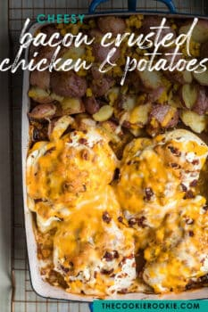 bacon crusted chicken pinterest image