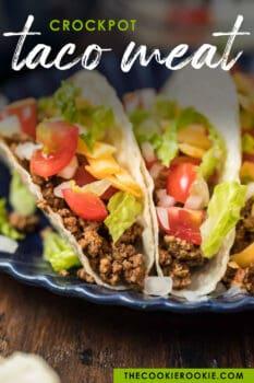 crock pot taco meat pinterest image