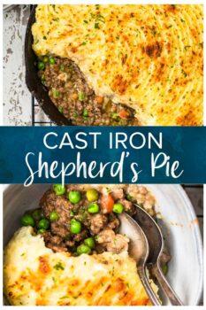 cast iron cottage pie pinterest image