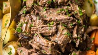 Easy Slow Cooker Pot Roast (Crockpot Recipe)