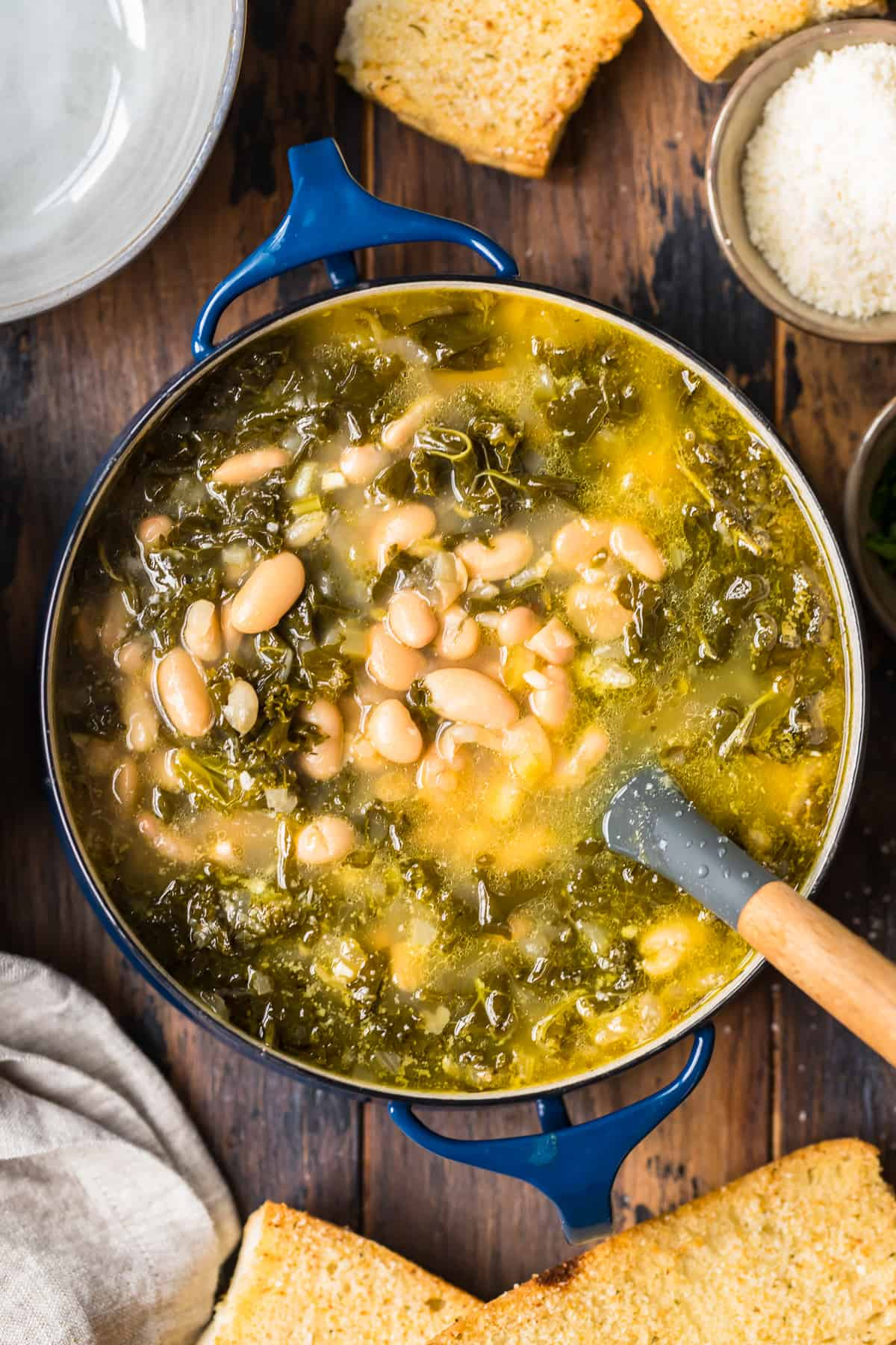 white bean soup in dutch oven
