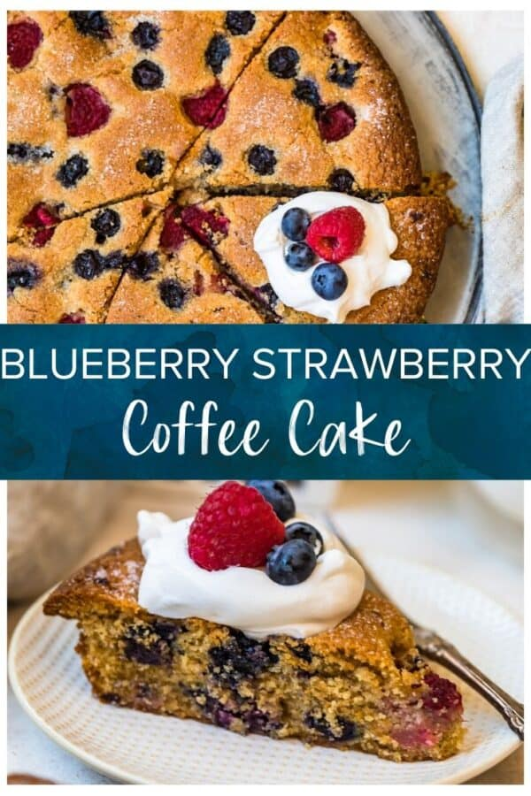blueberry strawberry coffee cake pinterest collage