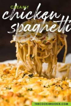 chicken spaghetti pinterest image