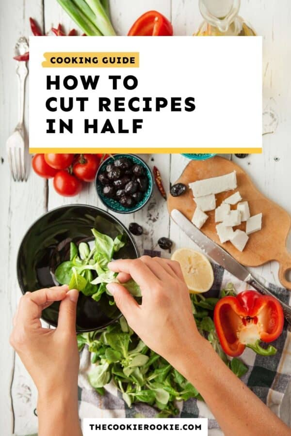 how to cut recipes in half