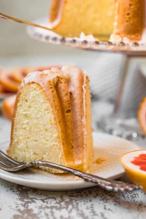 slice of bundt cake