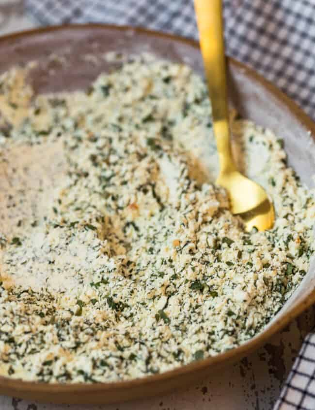 homemade ranch seasoning mix in a bowl