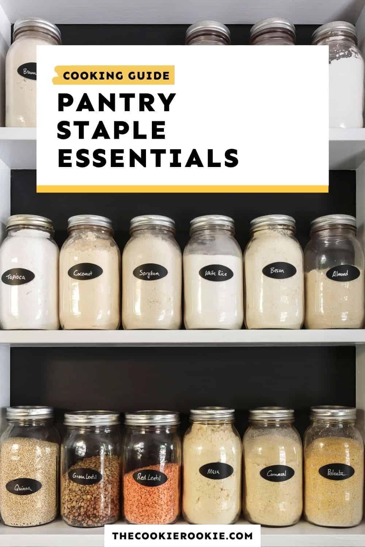 pantry staple essentials
