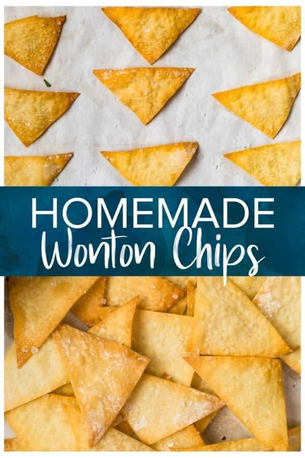 wonton chips pinterest photo