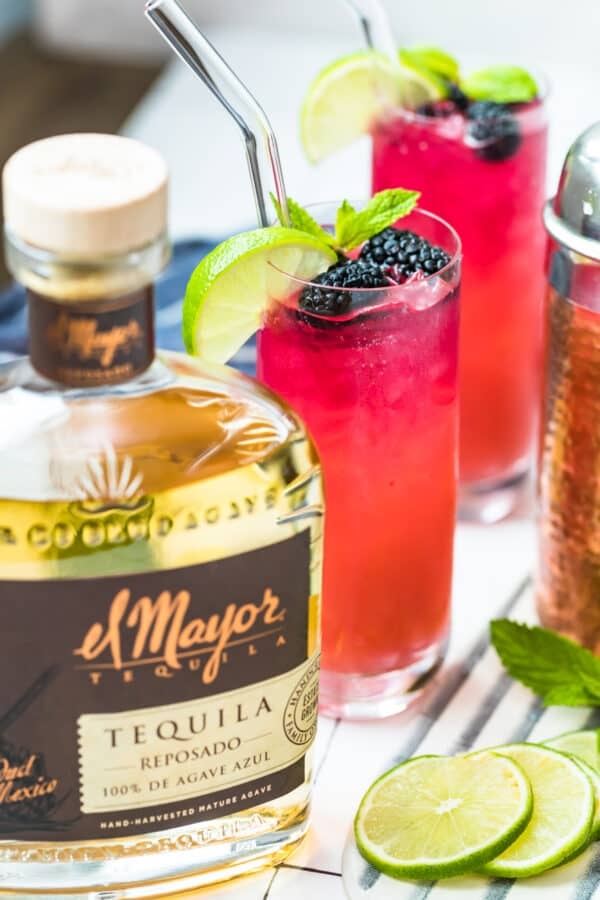 the best black berry palomas with el major tequila