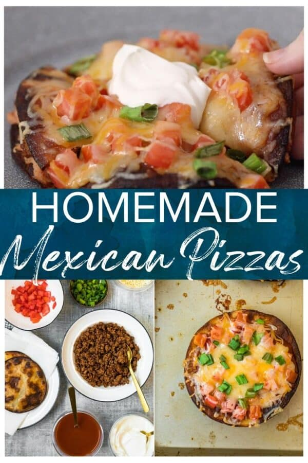 homemade mexican pizzas pinterest image