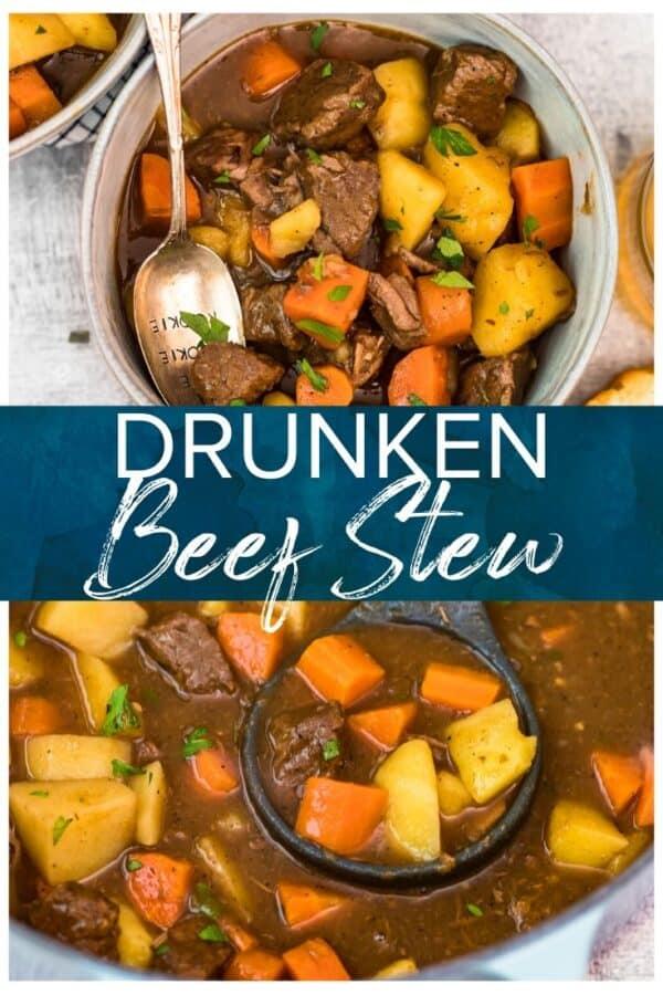 drunken beef stew pinterest image
