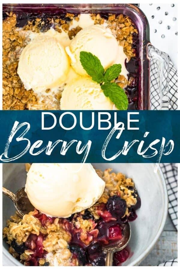 double berry crisp pinterest image