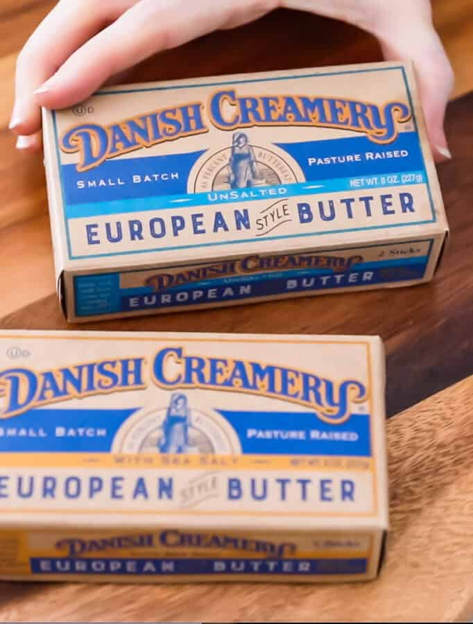 picture of unopened danish creamery butter