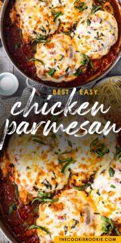 easy chicken parmesan pinterest collage
