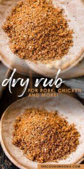 dry rub for pork pinterest collage