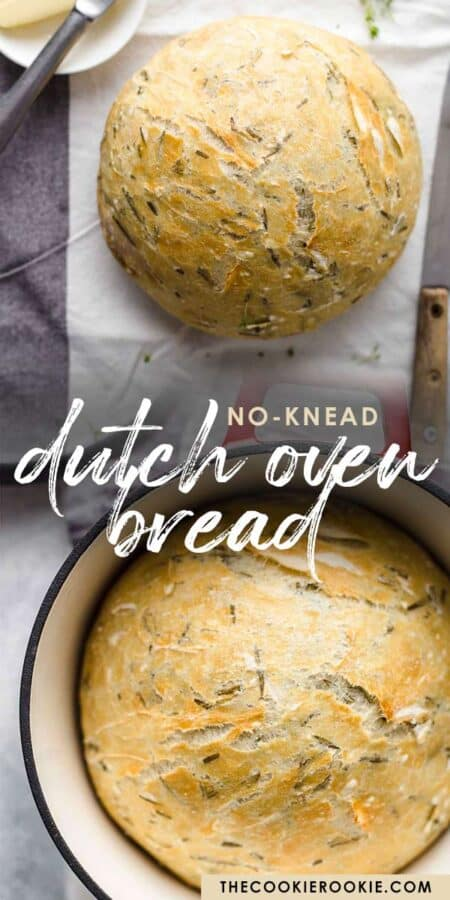 dutch oven bread pinterest collage