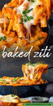 easy baked ziti pinterest collage