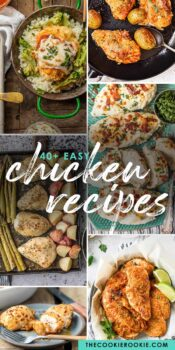 easy chicken recipes pinterest collage