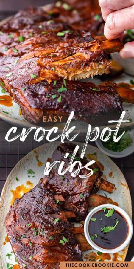 crock pot ribs pinterest collage