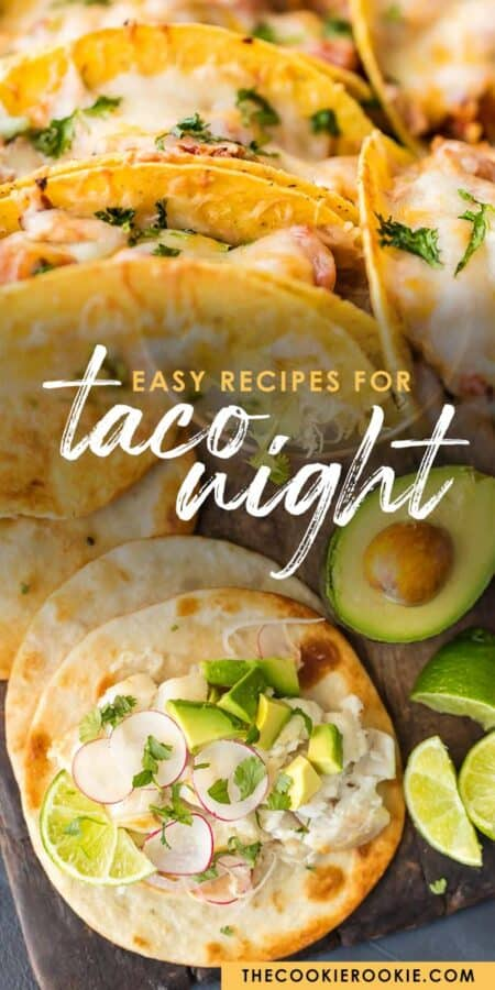 taco night guide pinterest collage